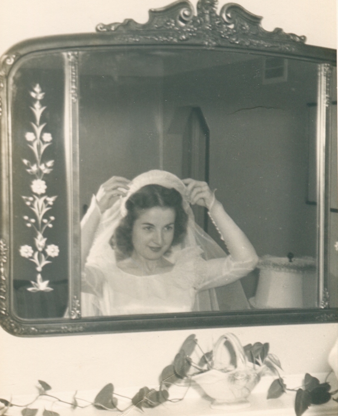 My grandmother Evelyn on her wedding day.